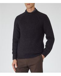 Reiss - Blue Cook Ribbed Crew-neck Jumper for Men - Lyst