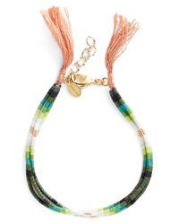 Shashi | Green Ombre Bead Bracelet | Lyst
