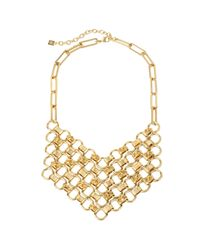 DANNIJO | Metallic Plimpton Chain Bib Necklace | Lyst