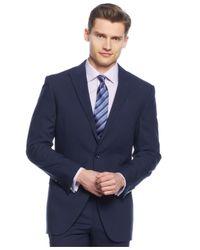 Perry Ellis | Medium Blue Peak Lapel Slim-fit Suit for Men | Lyst