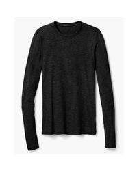 Theory | Black Quyl Top In Ribbed Viscose | Lyst