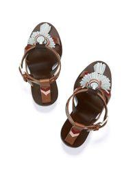 Tory Burch - Brown Weaver Tassel Sandal - Lyst