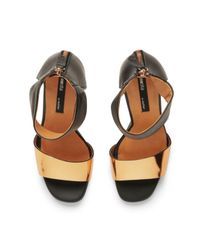 Miista Metallic Womens Jayda Perspex Heeled Leather Sandals