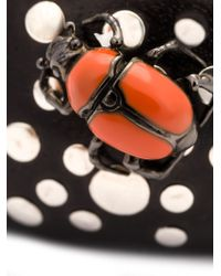 M.c.l  Matthew Campbell Laurenza | Black Beetle Appliqué Studded Horn Cuff | Lyst