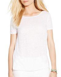 Lauren by Ralph Lauren - White Linen Shirt - Lyst