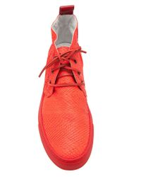 Del Toro | Red Lace Up Chukka Trainers for Men | Lyst