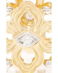 Buccellati | Metallic Eternelle Band Ring With Diamonds In Yellow Gold | Lyst