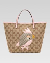 Gucci - Pink Gg Plus Canvas Parrot Bag - Lyst