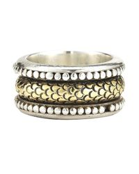 John Hardy | Metallic Pre-owned: Spinner Ring In Sterling Silver/18ky | Lyst