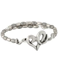 ALEX AND ANI - Metallic Heart Wrap Bracelet - Lyst