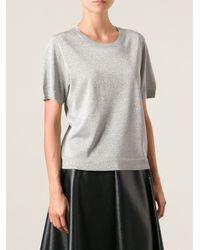 Dries Van Noten - Metallic 'mirese' Short Sleeve Sweater - Lyst