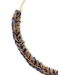 Carolina Bucci - Metallic Gold & Woven Silk Hoop Earrings - Lyst