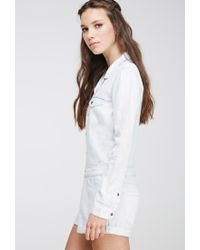 Forever 21 | Blue Faded Chambray Playsuit | Lyst