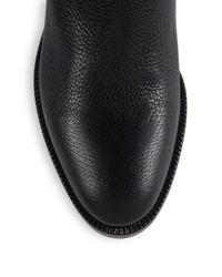Valentino | Black Rockstud Leather Biker Boots | Lyst