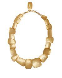 Herve Van Der Straeten | Metallic Goldplated Layered Square Necklace | Lyst