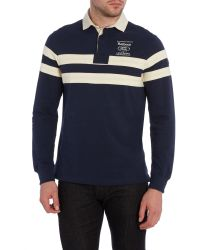 Barbour - Blue Land Rover Rugby Long Sleeve Wakefield Ruby for Men - Lyst