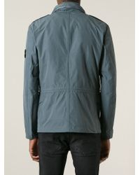 Stone Island Gray Military Jacket for men
