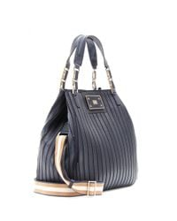 Anya Hindmarch Black Belvedere Large Leather Shoulder Bag