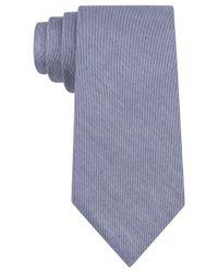 Calvin Klein - Blue Denim Solid Slim Tie for Men - Lyst