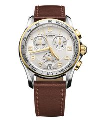 Victorinox | Metallic Victorinox Swiss Army 'chrono Classic' Leather Strap Watch for Men | Lyst