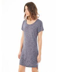 Alternative Apparel - Blue Eco-jersey Printed T-shirt Dress - Lyst