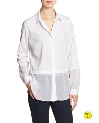 Banana Republic | White Factory Double-layer Blouse | Lyst