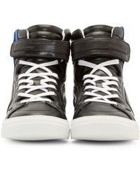 Pierre Hardy | Black Leather Les Baskets Sneakers for Men | Lyst