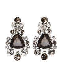 Givenchy | Black Silver-Tone Statement Earrings | Lyst