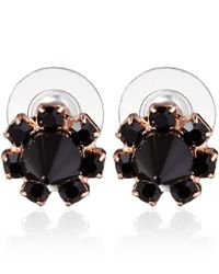 Joomi Lim - Rose Gold-Tone Black Out Stud Earrings - Lyst