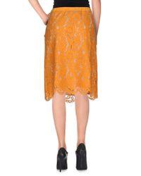 Twin Set - Orange Knee Length Skirt - Lyst