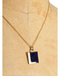 Lily Kamper | Blue Navy Alphabet Pendant: L | Lyst
