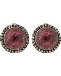 Munnu | Metallic Diamond & Rubellite Drop Earrings-colorless | Lyst
