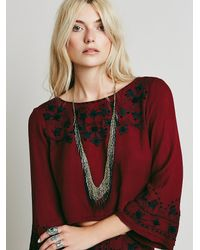 Free People Metallic Chainmail Fringe Necklace