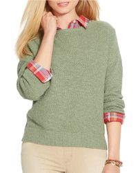 Lauren by Ralph Lauren | Green Seed-stitched Sweater | Lyst