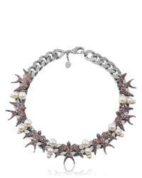 Schield Black Swallow Necklace