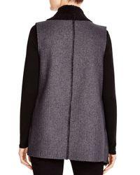 Splendid Gray Keane Faux Shearling Vest