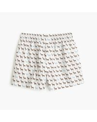 J.Crew | Brown Reindeer Boxers for Men | Lyst