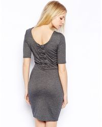 Sugarhill - Gray Be Mine Jersey Dress With Bow Back - Lyst