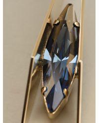 Iosselliani - Blue Geometric Floral Clipon Earrings - Lyst