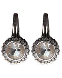 Stephen Dweck - Metallic Silver Rock Crystal And Diamond Scallop Earrings - Lyst
