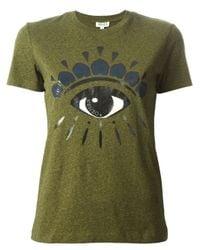 KENZO Green 'Eye' T-Shirt