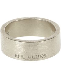 All_blues - Metallic Silver Band Ring for Men - Lyst