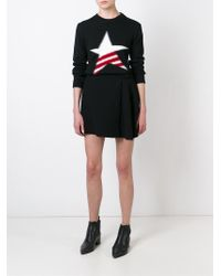 MSGM - Black Fuzzy Star Sweater - Lyst