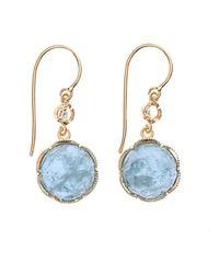 Irene Neuwirth - Metallic Diamond, Aquamarine & Gold Earrings - Lyst