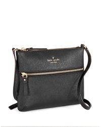 kate spade new york Black Tenley Leather Crossbody Bag