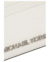 MICHAEL Michael Kors White Textured-leather Cardholder