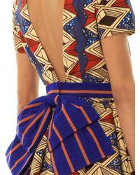 Stella Jean Yellow Mirto Diamond Africanprint Dress