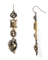 Alexis Bittar Metallic Elements Crystal Studded Spur Trimmed Pyrite Doublet Earrings
