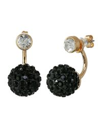 Guess | Black Stone Stud And Bead Trio Earrings Set | Lyst