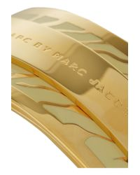 Marc By Marc Jacobs - Natural Gold-plated And Enamel Cuff - Lyst